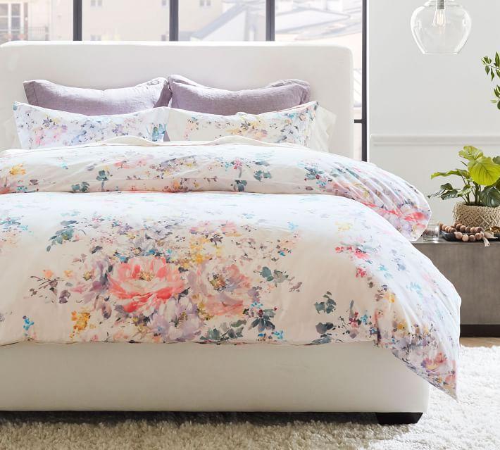 Pottery Barn Kinsley Floral Organic Cotton Duvet Cover & Shams