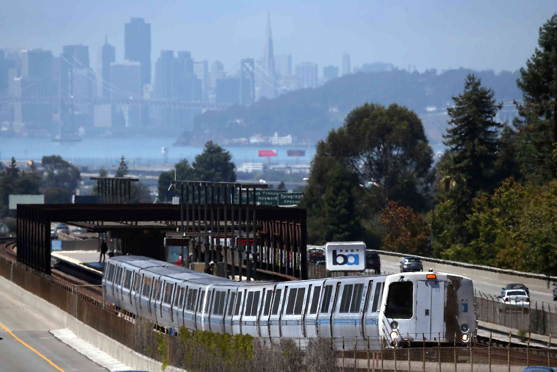 BART train, Oakland, California