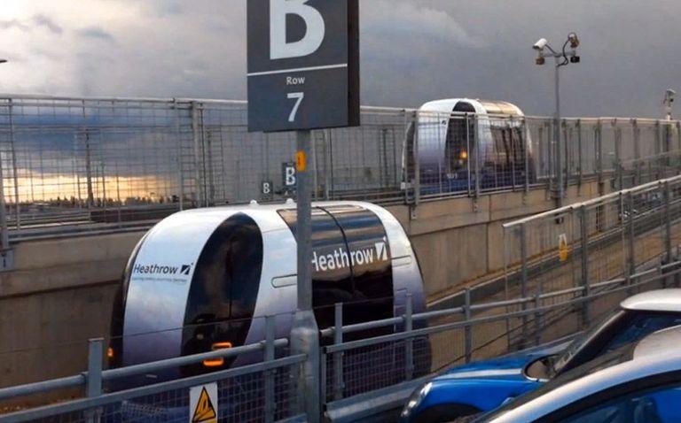 ¡Da un paseo en la cabina sin conductor de Heathrow! (Vídeo)