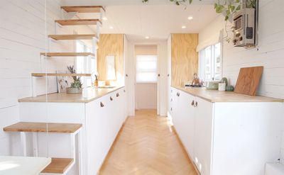 family of three diy tiny house transformer furniture interior