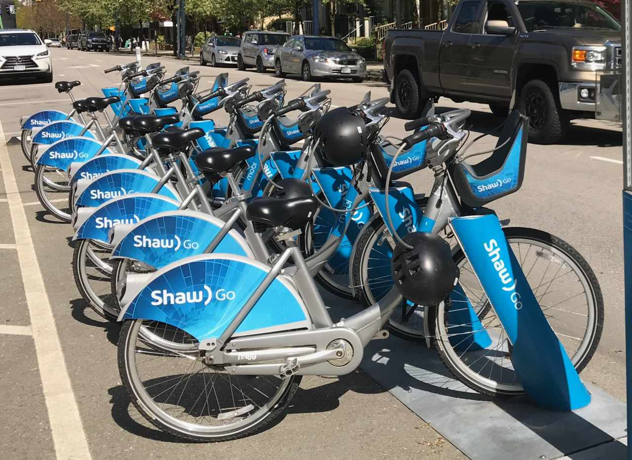 Shared bikes in Vancouver