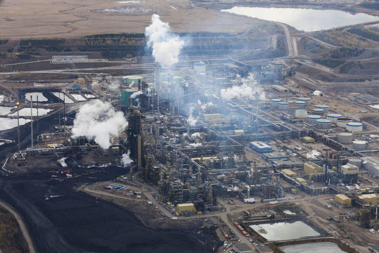 The Suncor refinery in Alberta's oilsands near Fort McMurray.