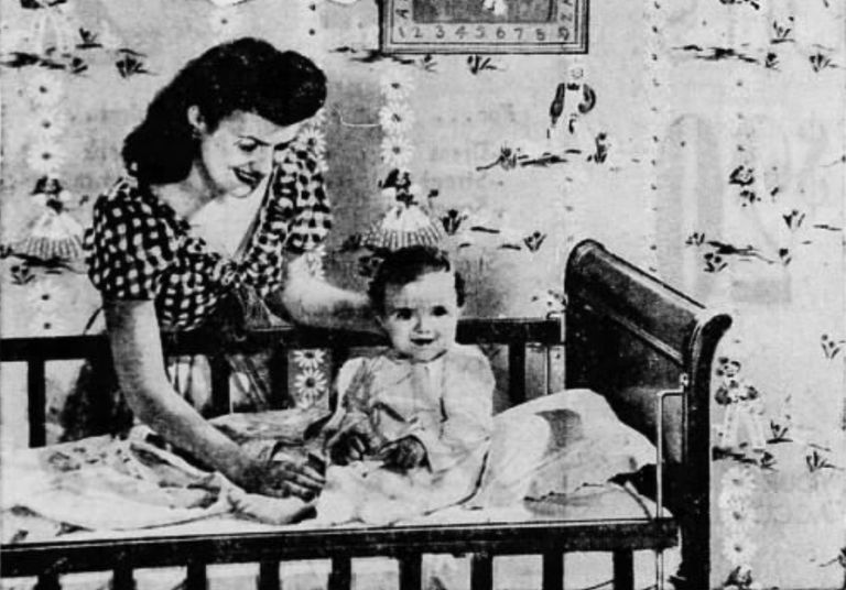 Baby in room with DDT impregnated wallpaper