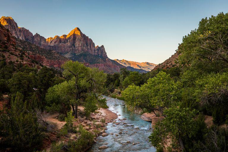 Sunrise at Zion National Park, Utah