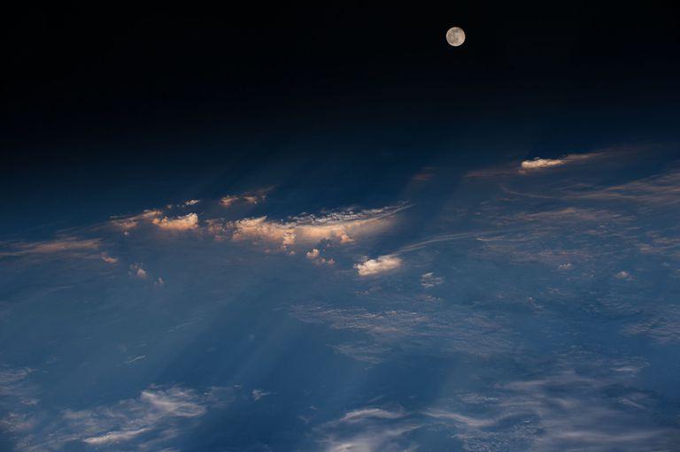 Full moon high in the sky