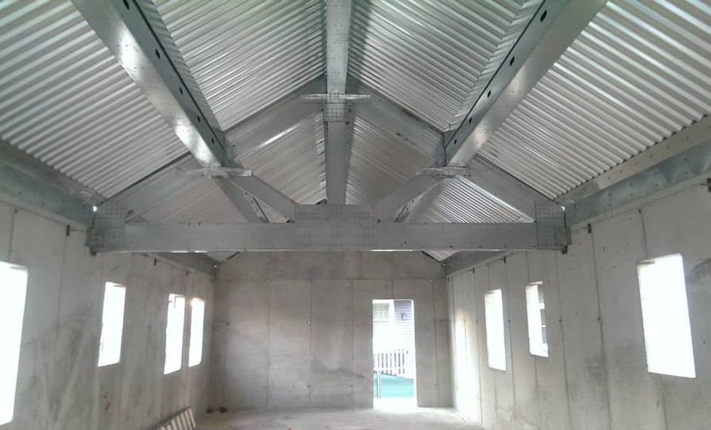 concrete house interior
