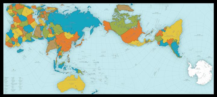Este mapa del mundo es extraño - y extrañamente preciso