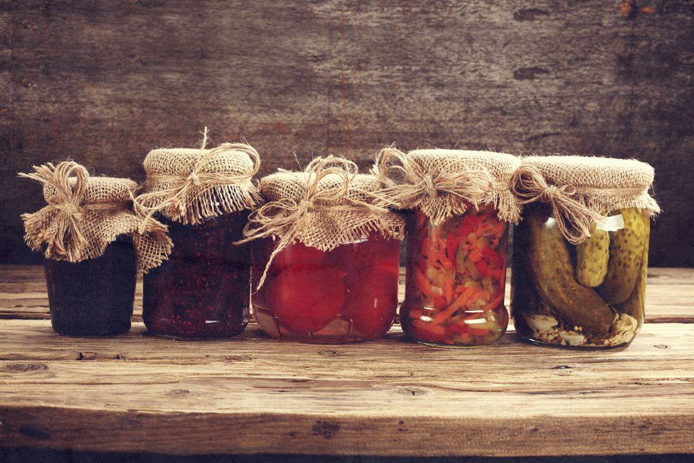 jars of jams and preserves