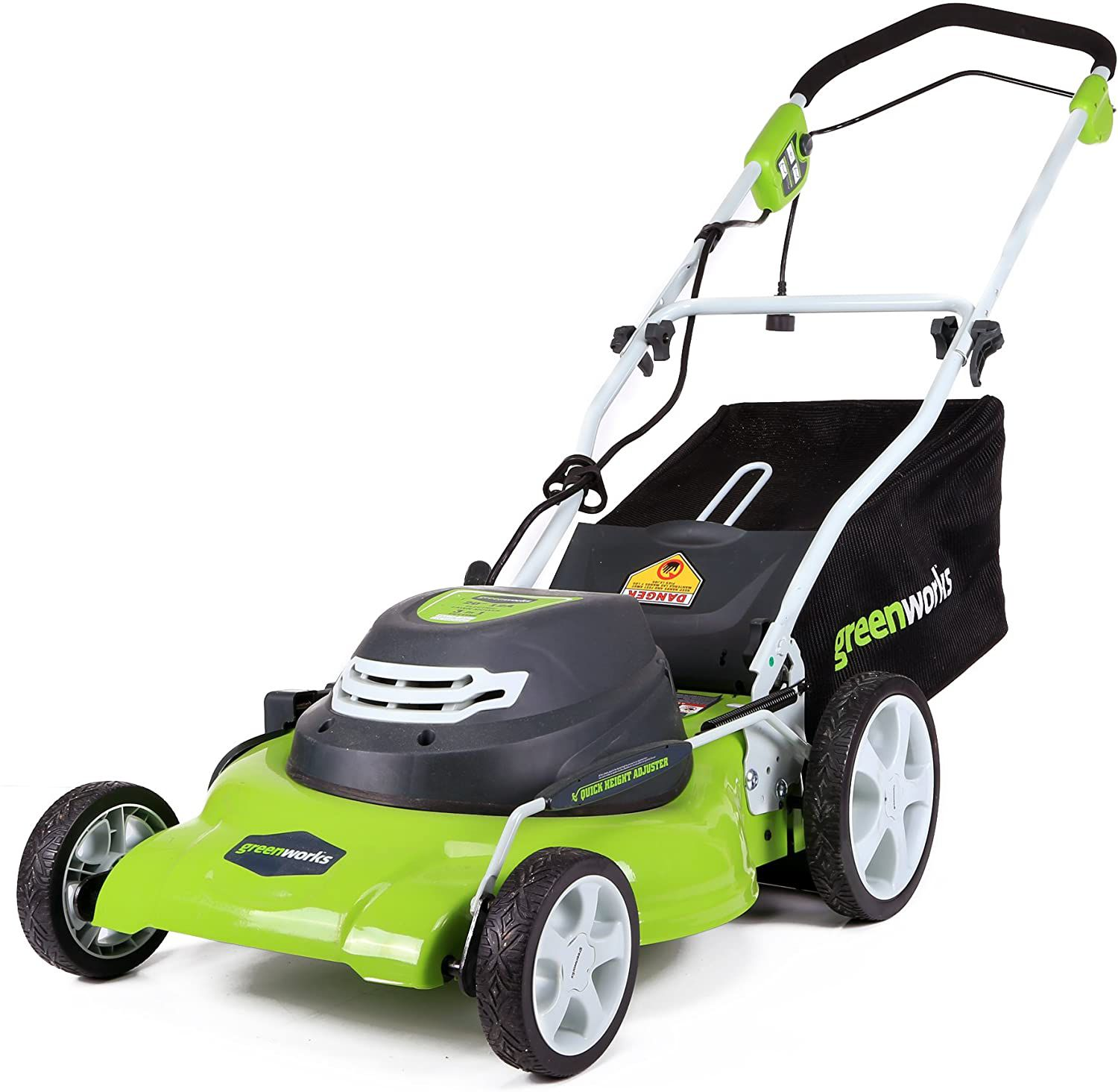 Greenworks 12 Amp 20-Inch 3-in-1Electric Corded Lawn Mower