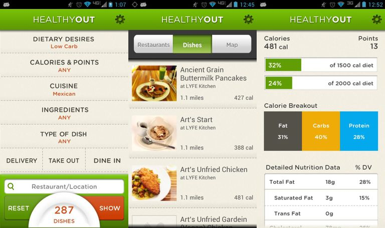 Encuentre y ordene comidas saludables en restaurantes locales con HealthyOut