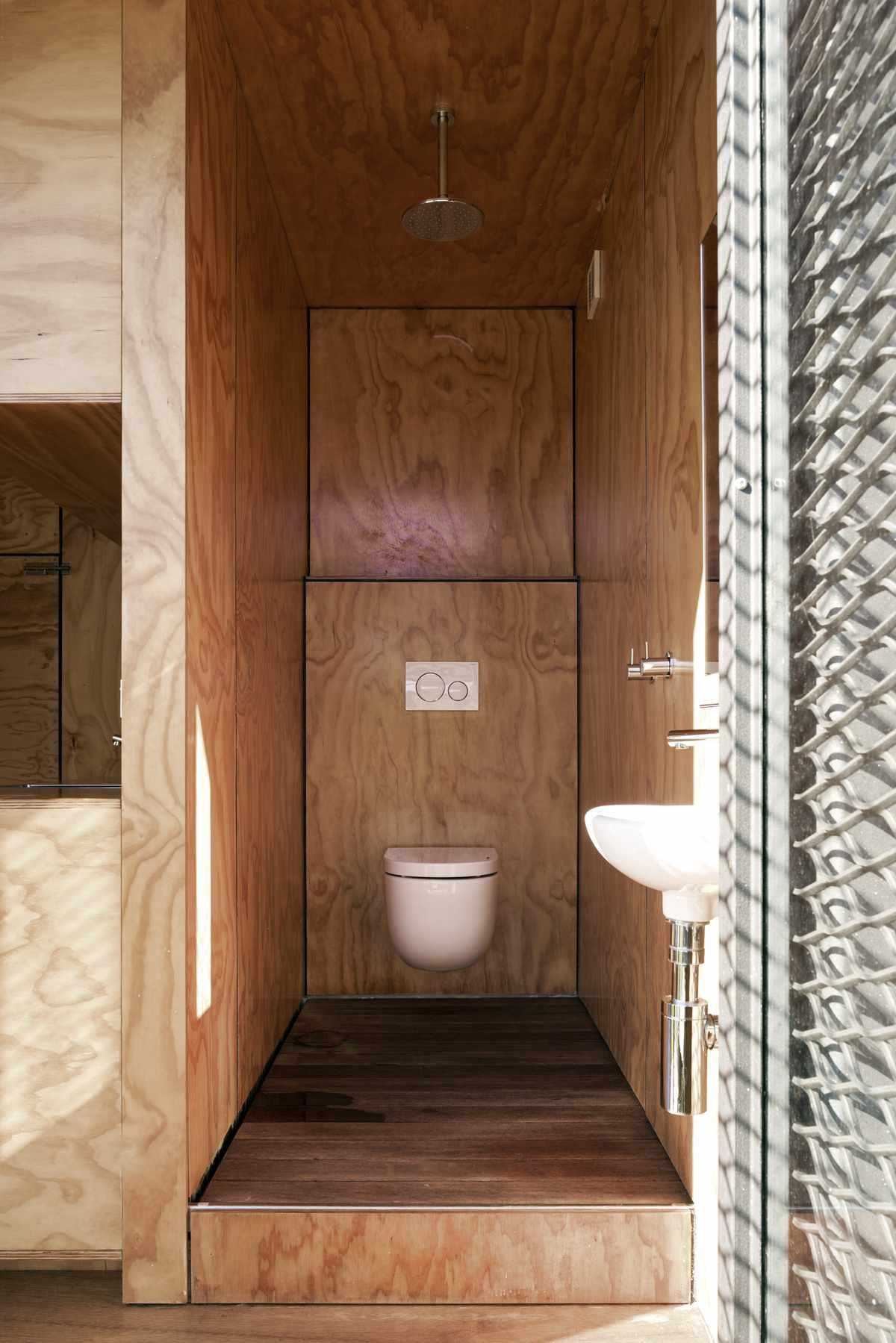 proper toilet in bathroom