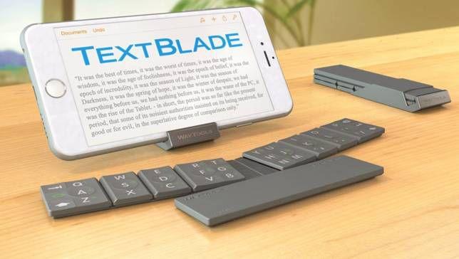El teclado plegable TextBlade podría cambiar la escritura móvil