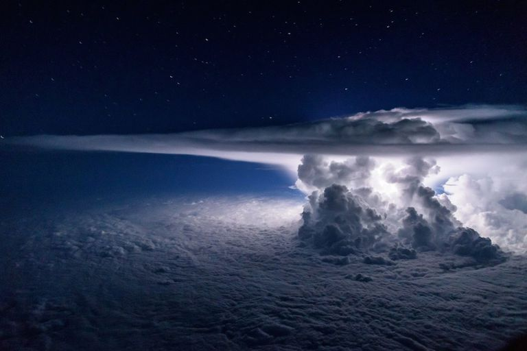 storm as seen by pilot