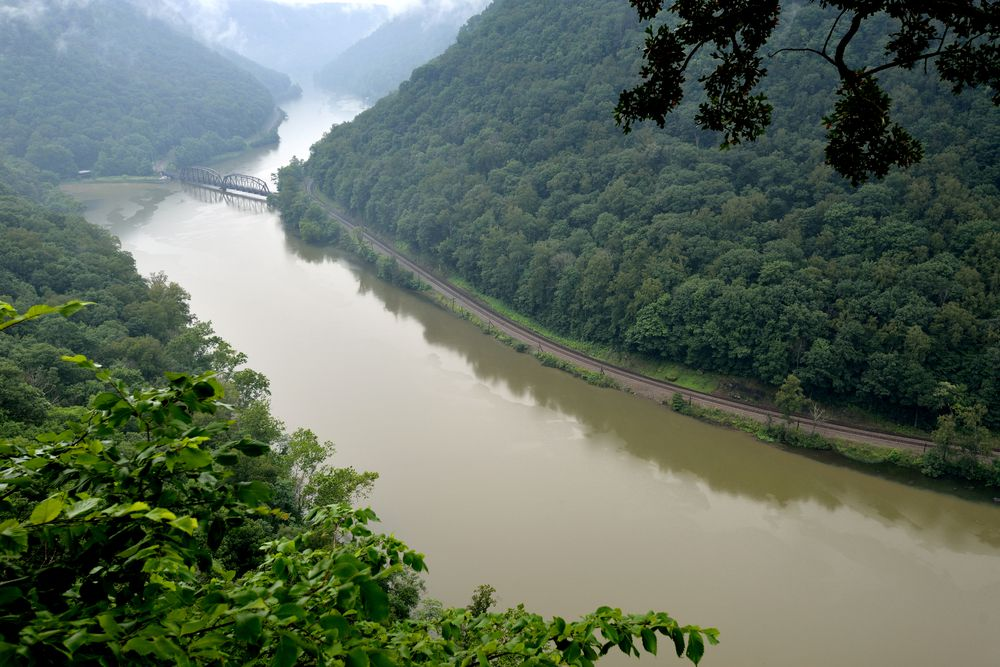 In parts of the Appalachians, rivers often have a tea-colored tinge due to soil.