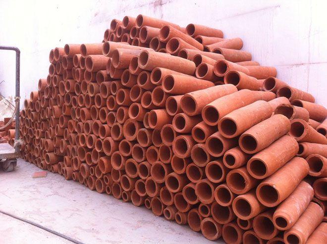 Pile of terracotta tubes
