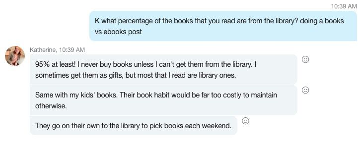 Library discussion