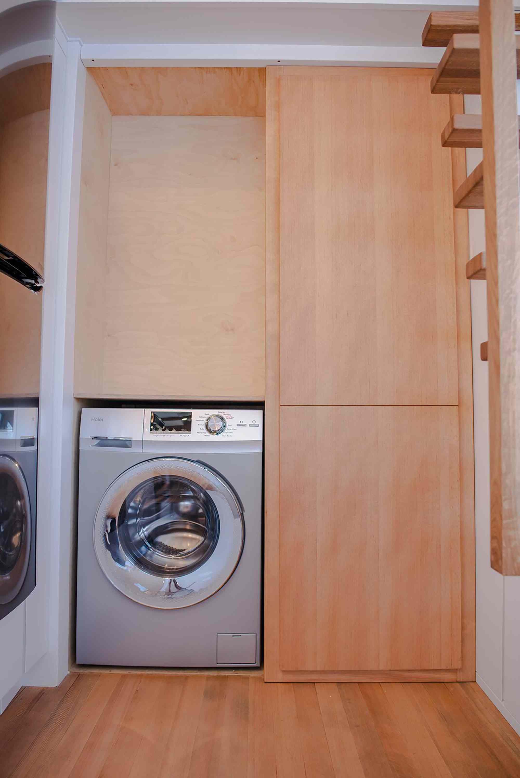 Fritz Tiny Homes pantry washing machine