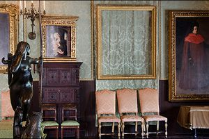 Empty frames hang at the Isabella Stewart Gardner Museum as placeholders for when the stolen works of art are returned.