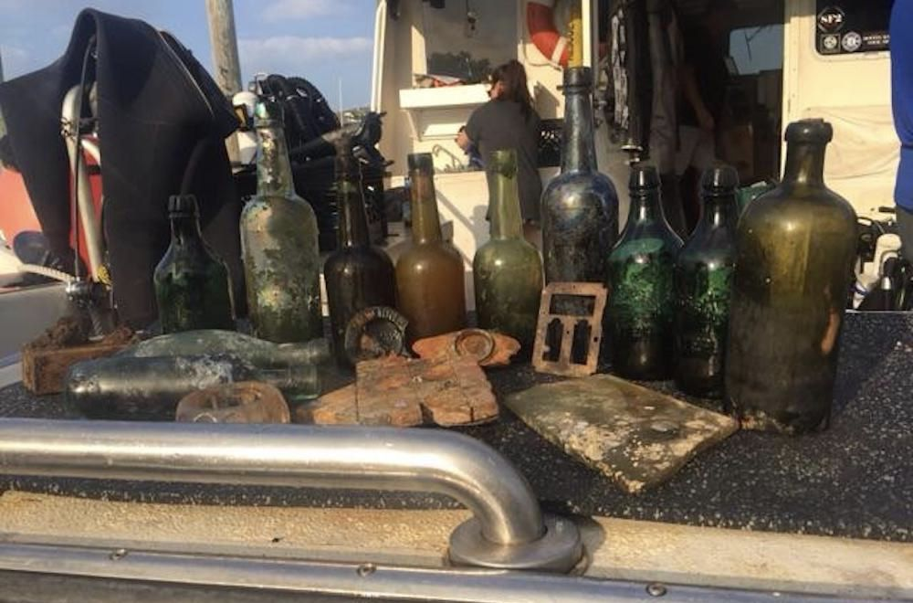 beer bottles brought up from the SS Oregon