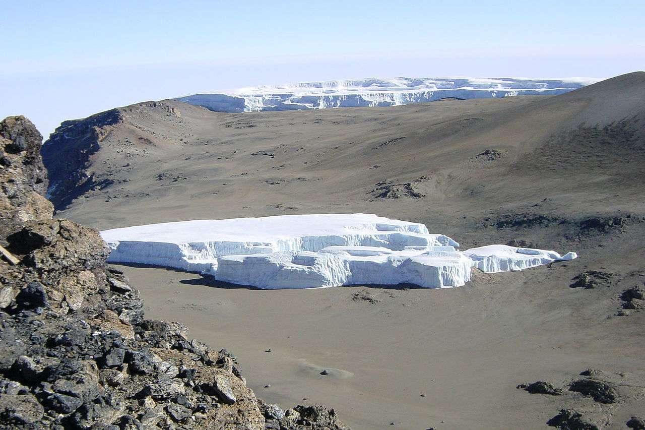 Furtwängler glacier at the summit of Mount Kilimanjaro