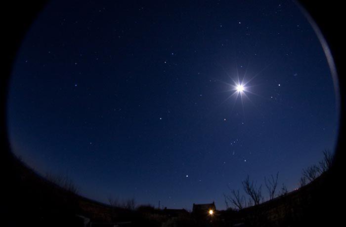 The night sky over Coll, Scotland.