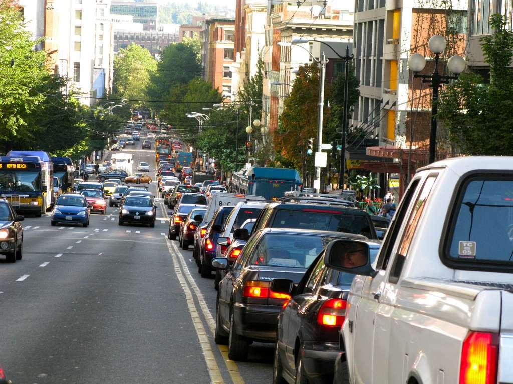 traffic congestion rises