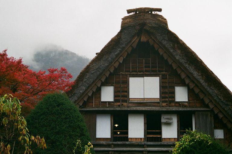 A traditional Minka Japanese style house.