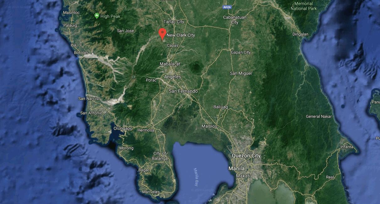 Google map screenshot of New Clark City area