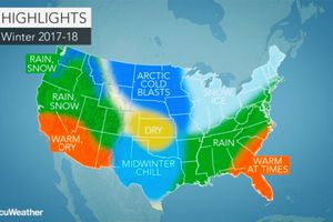 Accuweather's prediction for the 2017-2018 winter season should give skiers around the U.S. reason to celebrate in anticipation.