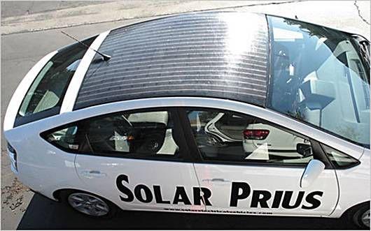 solar panel on a Prius
