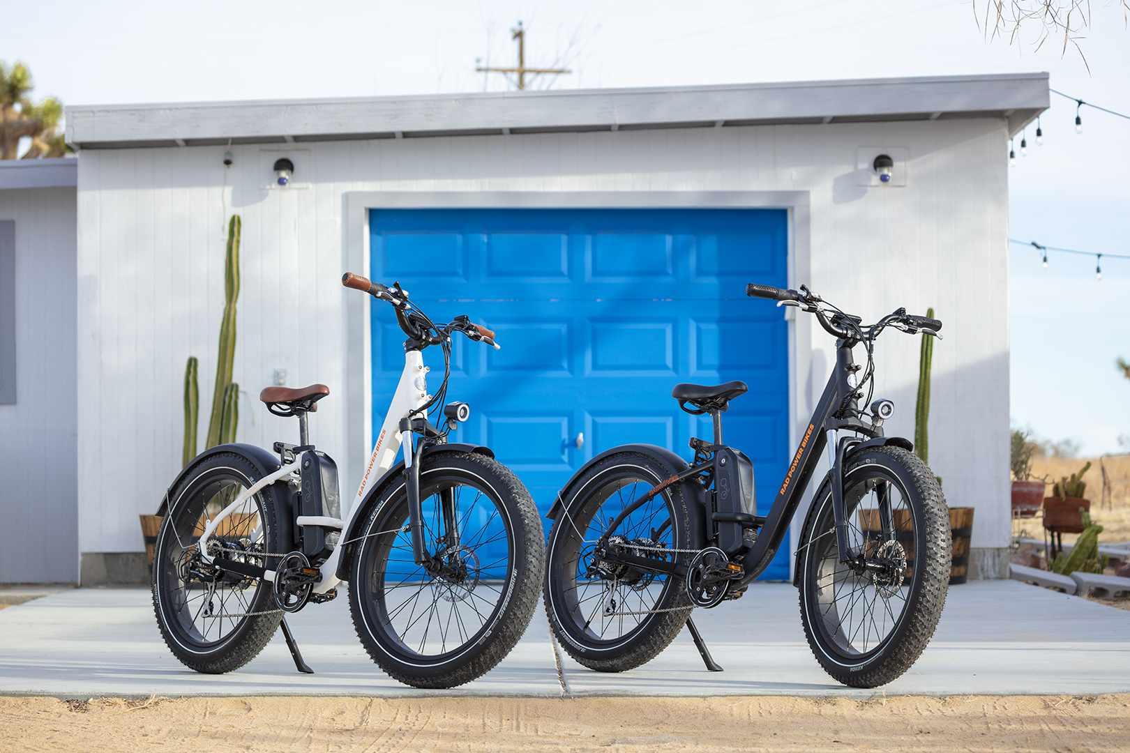 2 bikes parked