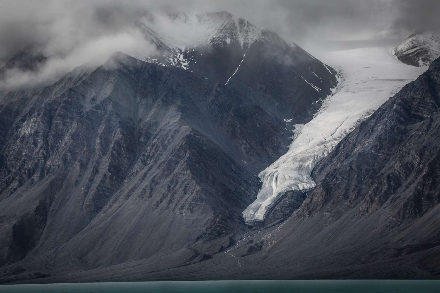 A hanging glacier at Tanquary Fiord in Quittinirpaaq National Park