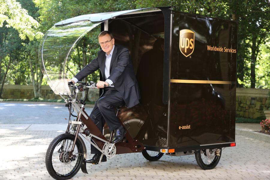 UPS e-bike delivery