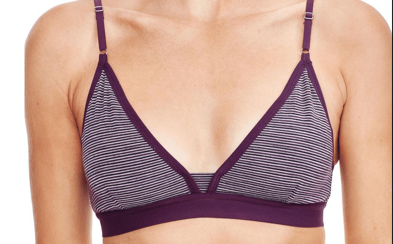 Woman wearing a yoga bra