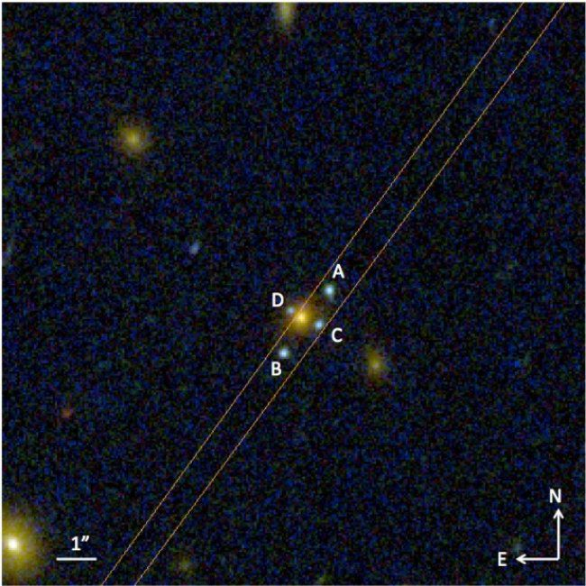 Einstein cross, gravitational lens