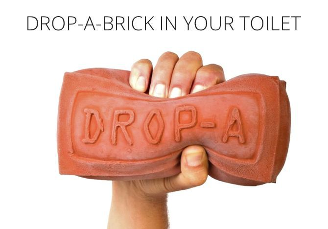 Drop a brick in your toilet to fight the drought