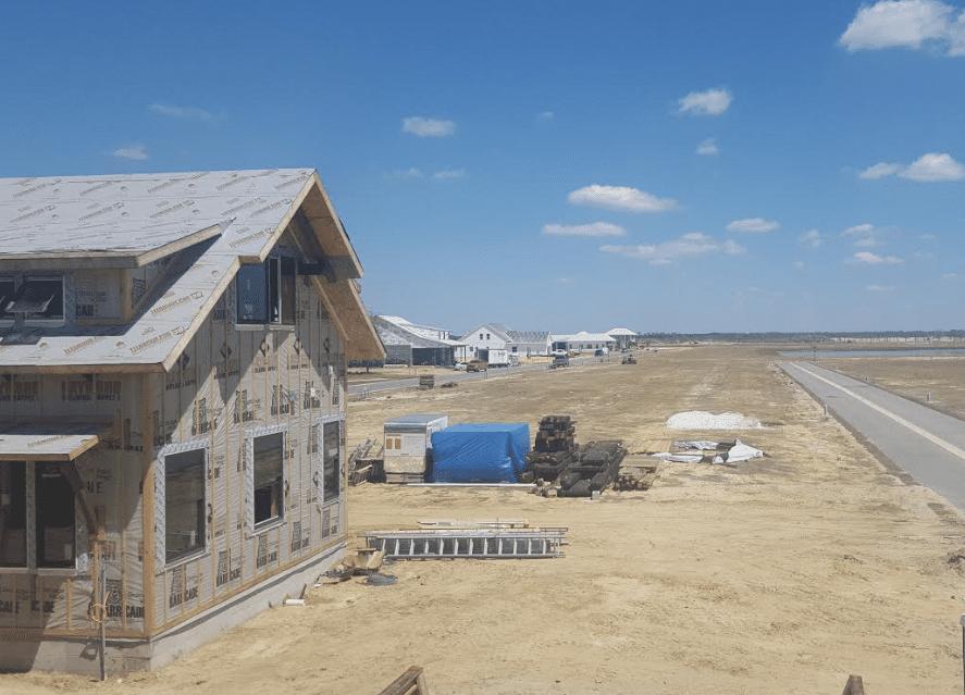 View of construction at Babcock Ranch, Punta Gorda