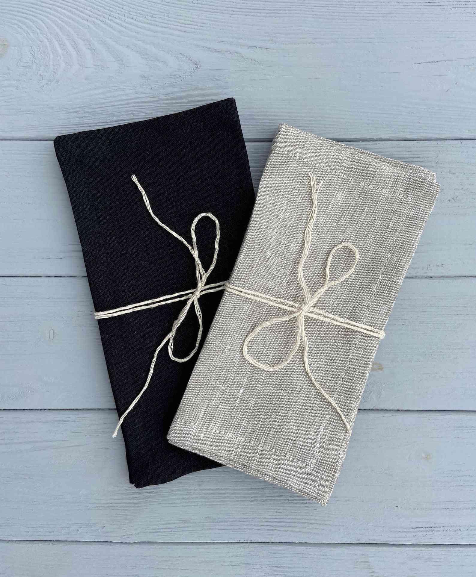 Healthy Linen Organic Linen Napkins Set