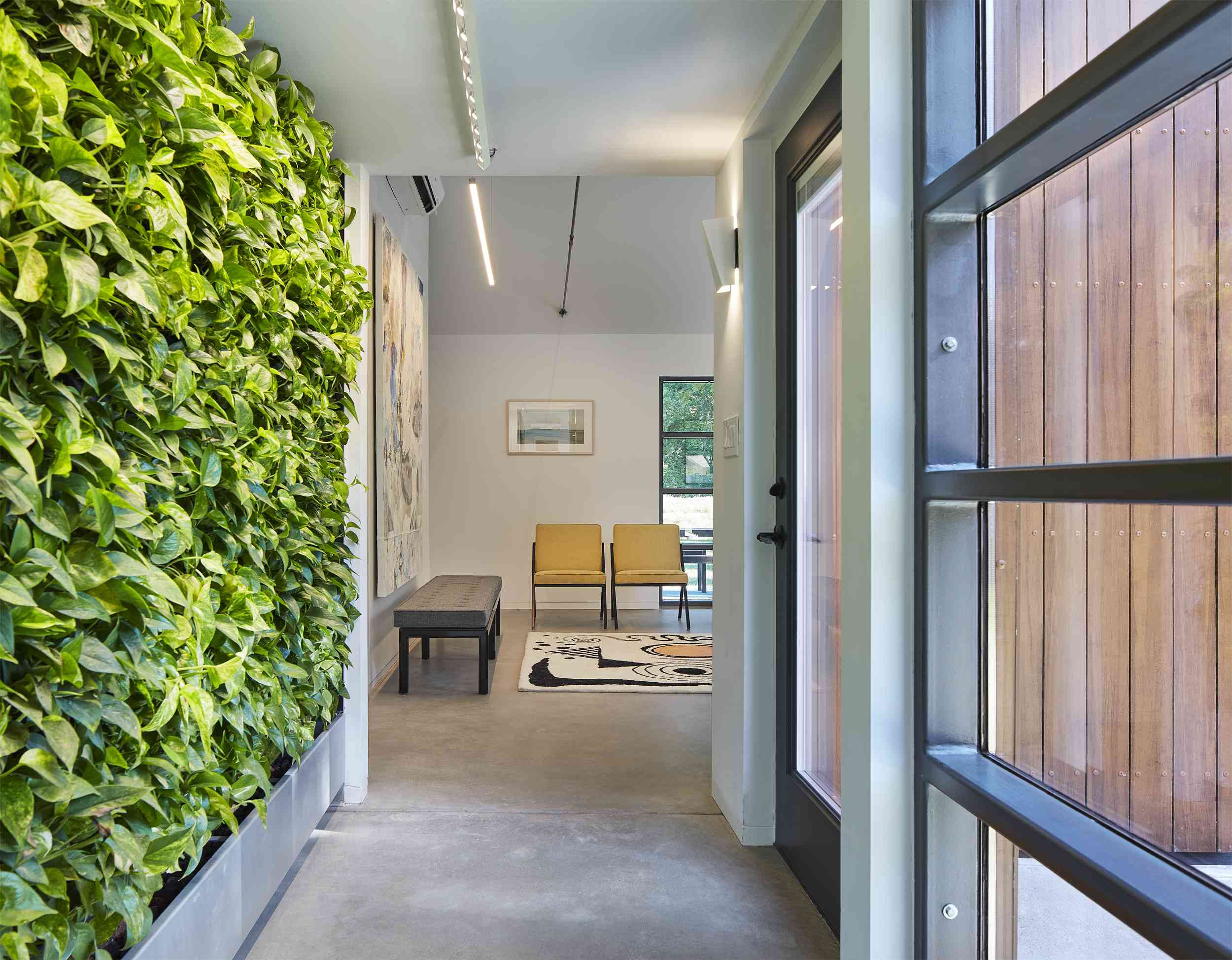 Entry with living wall