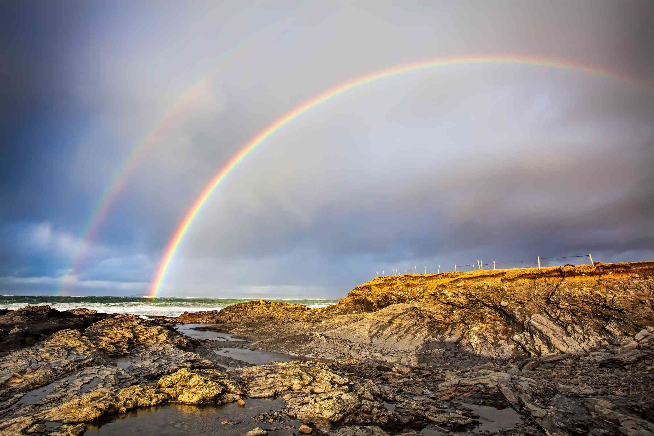 Double rainbow over the Cliffs of Moher