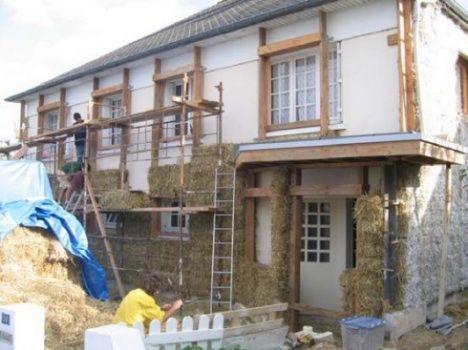straw bale mollin house photo