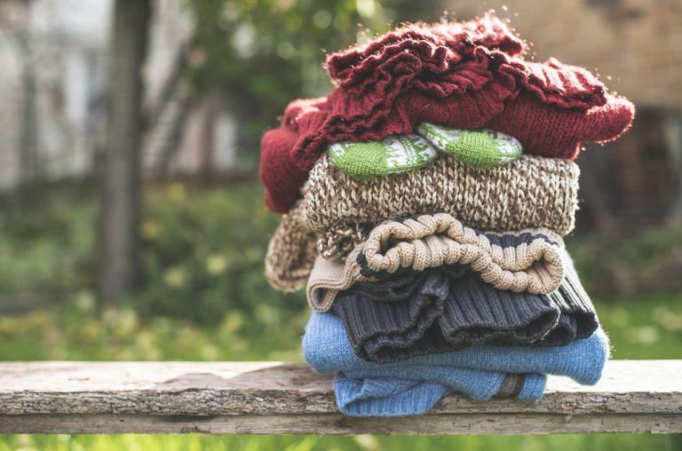 stack of woolens