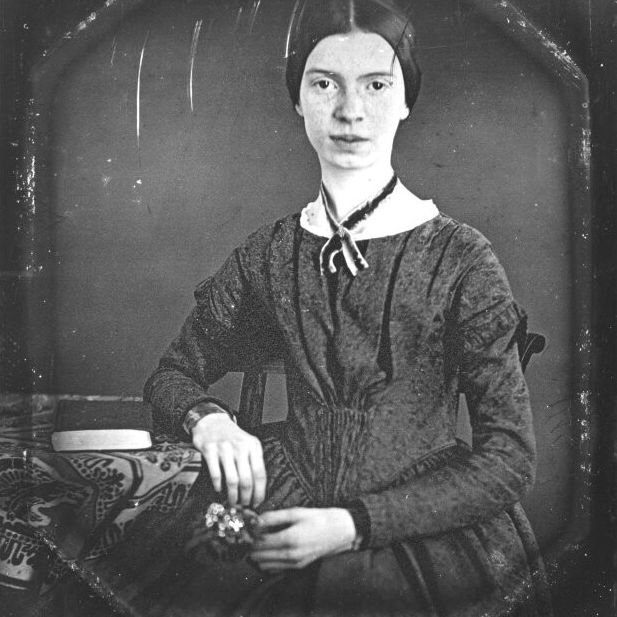 Daguerreotype of the poet Emily Dickinson, taken circa 1848