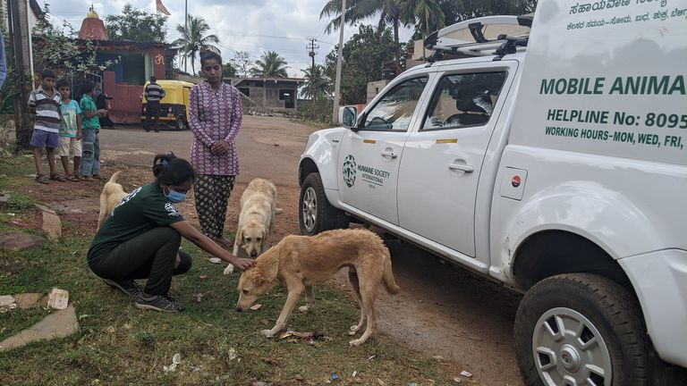 mobile rabies clinic in India