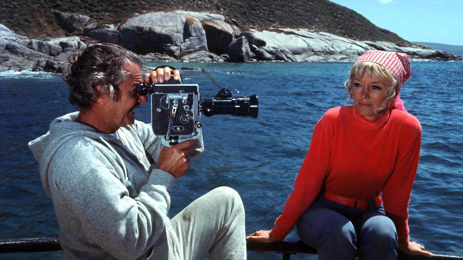 Director Bruno Valati films Valerie Taylor