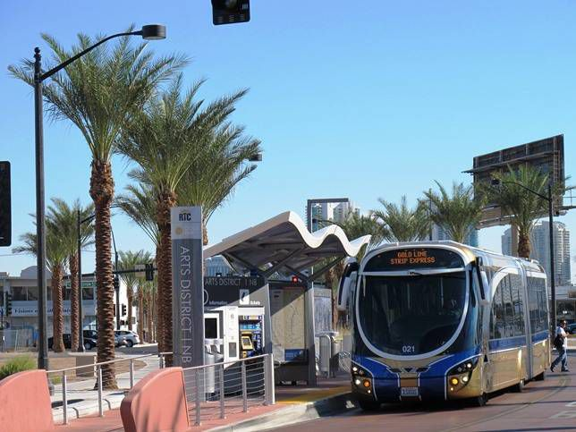 Las Vegas' Strip Express is the kind of Bus Rapid Transit system that could eventually be self-driving.