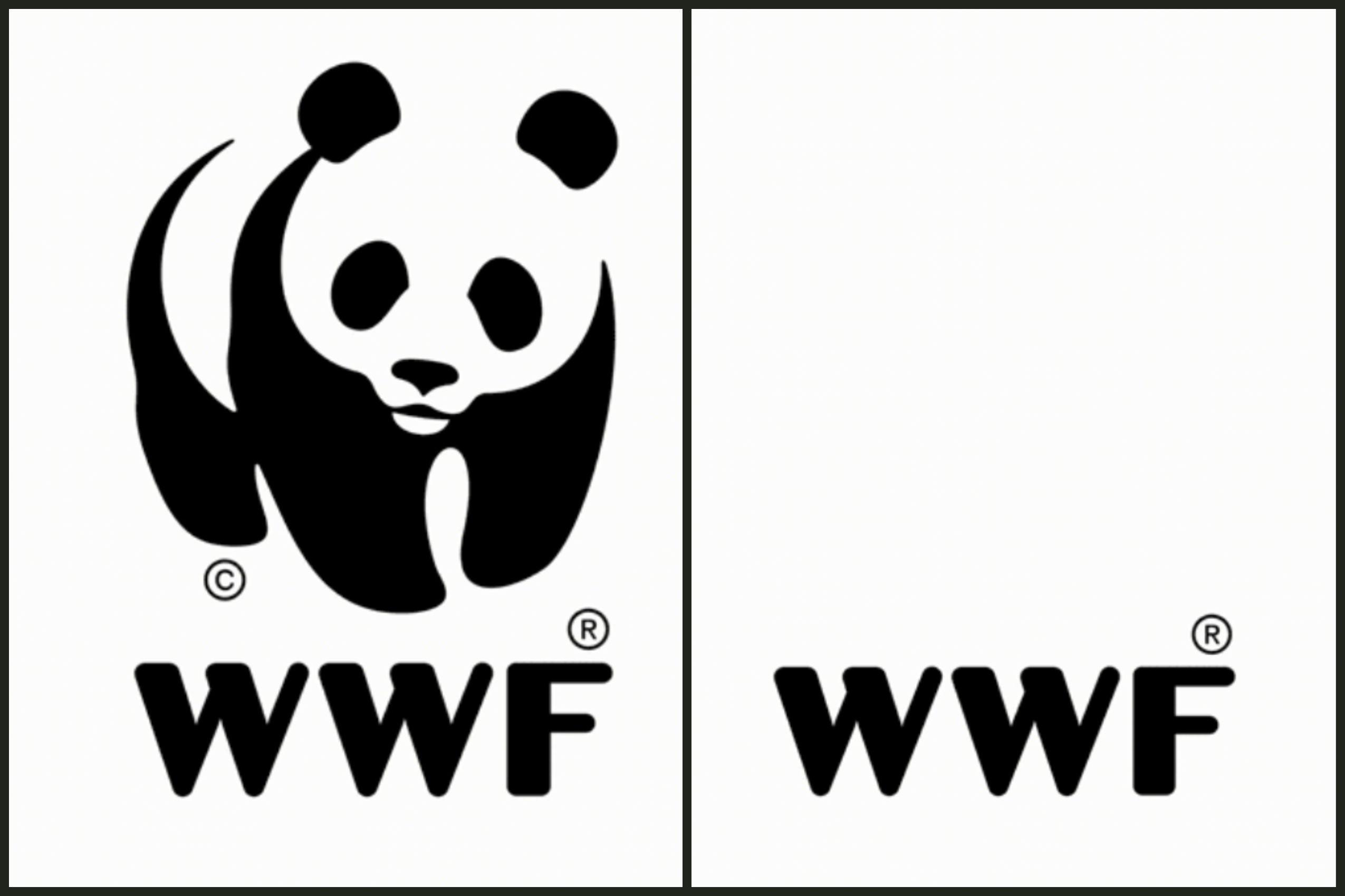 WWFF logo with and without panda