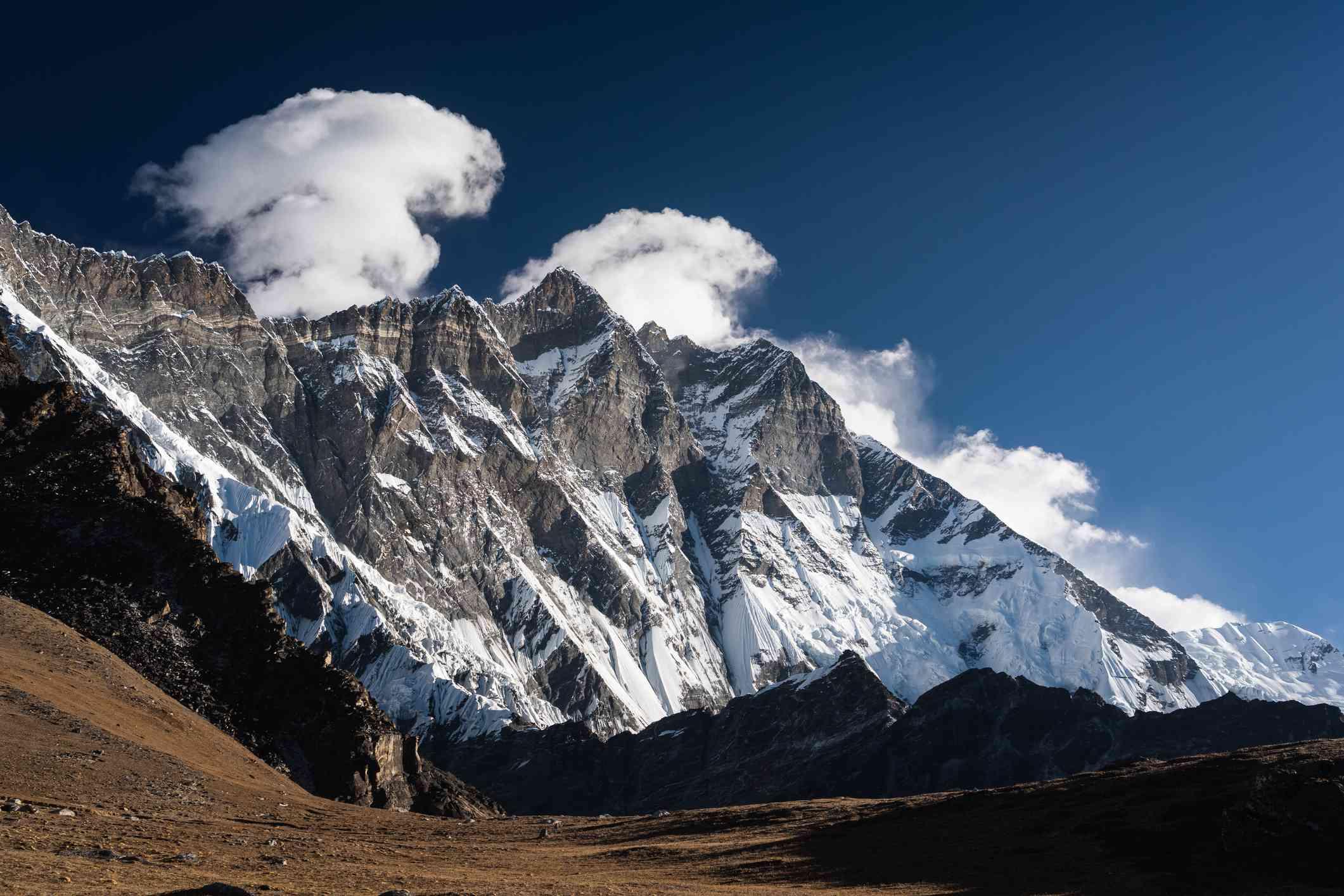 Lhotse mountain from Chukung Ri