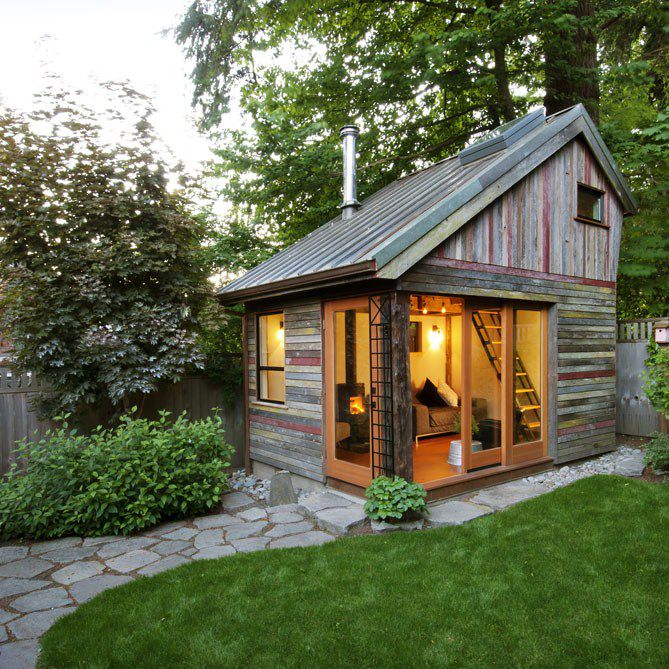 backyard cottage exterior