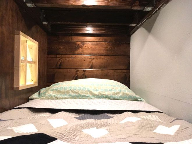 Interior view of bunk bed
